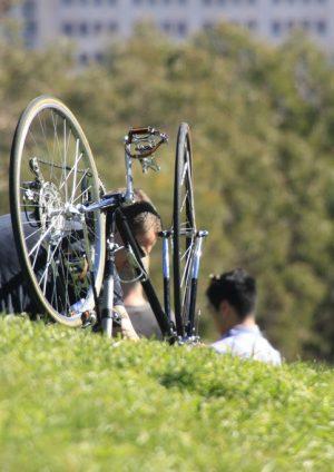 Zelf werken aan de fiets